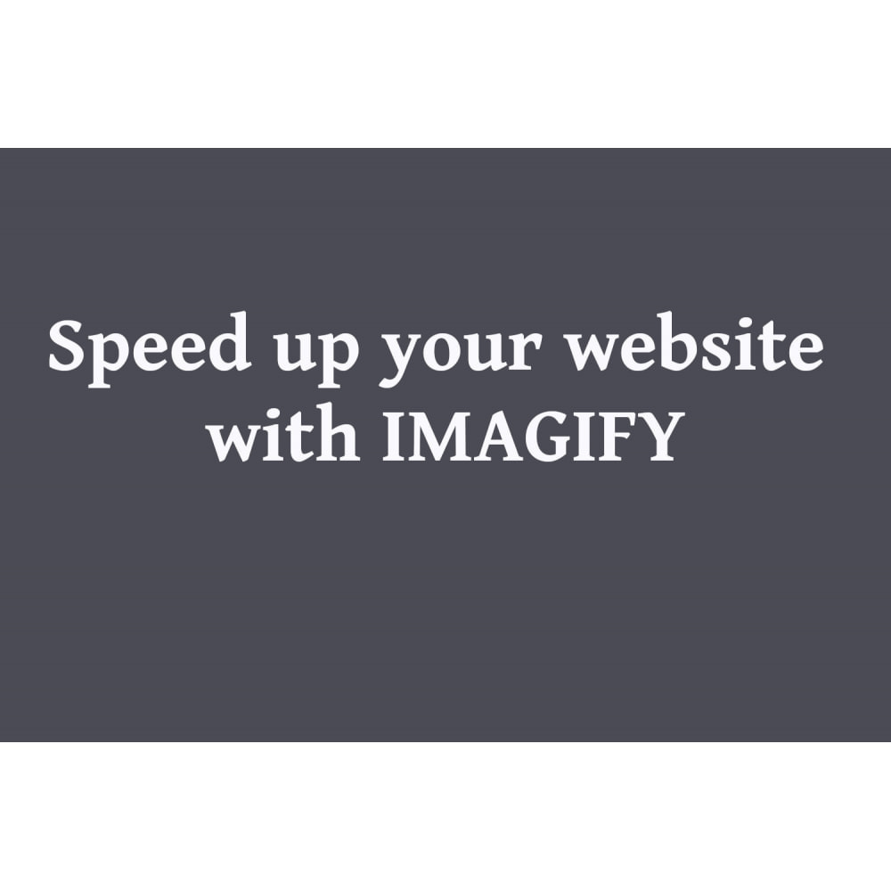 module - Website Performance - Image Compressor With IMAGIFY - 1