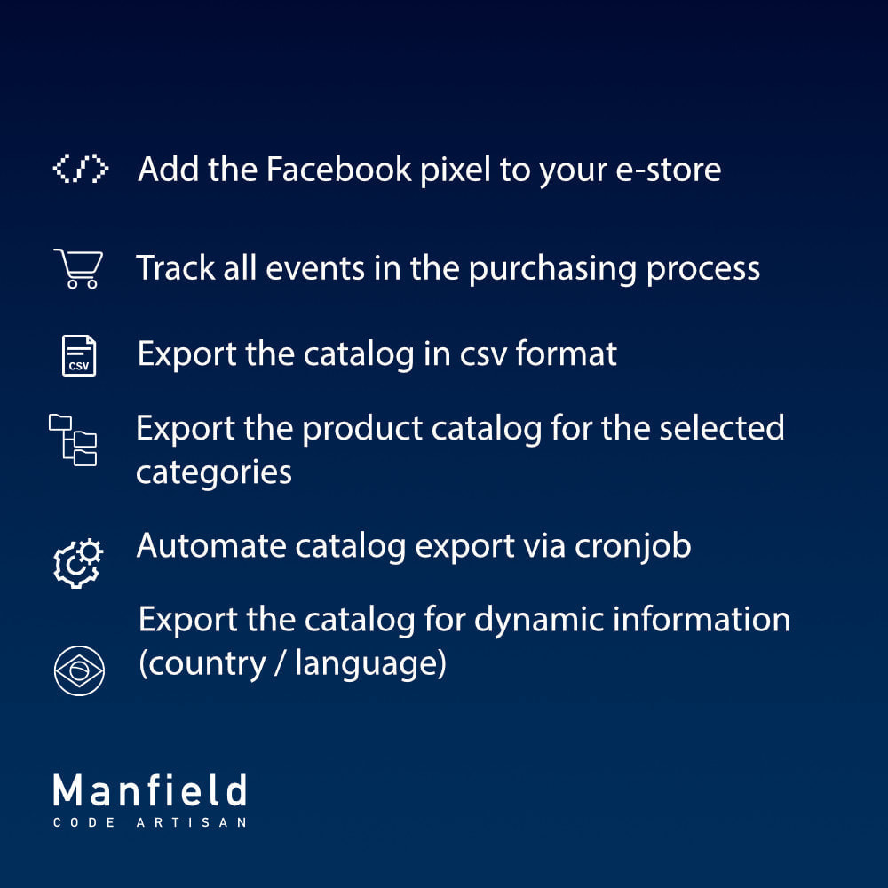 module - Produtos nas Facebook & Redes Sociais - Event tracking, csv catalog and cron for Facebook Pixel - 6