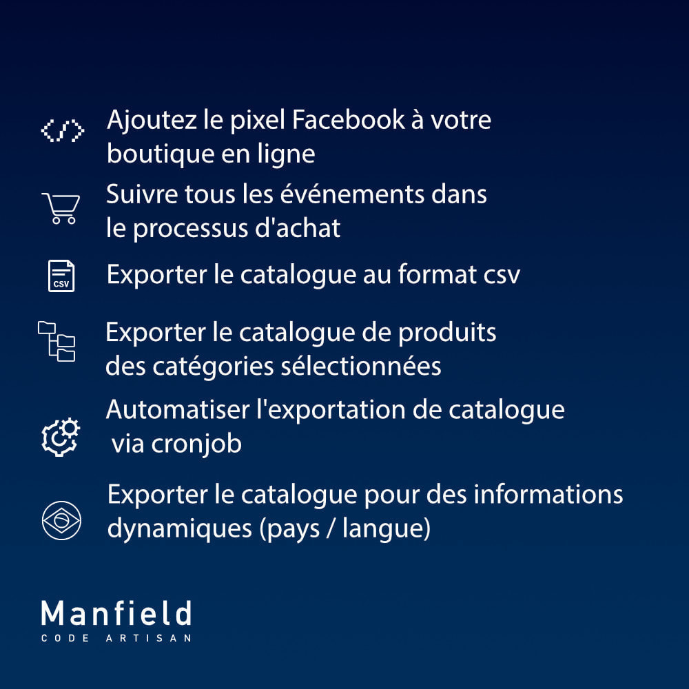 module - Produits sur Facebook & réseaux sociaux - Facebook Pixel + Track E-commerce + Catalogo e Cron - 6