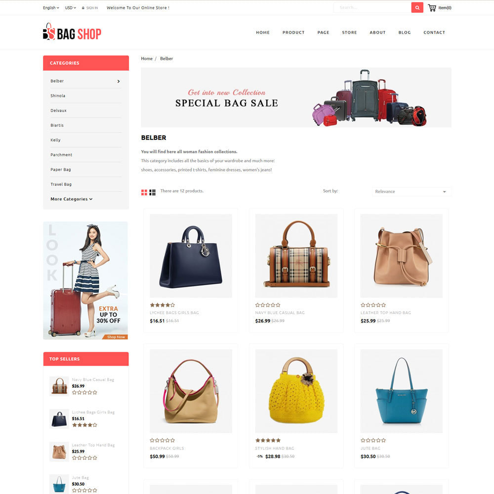 theme - Fashion & Shoes - Bag Store - 4