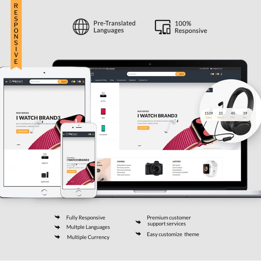theme - Electronics & Computers - Bigmart - The Electronics, Smartphones Multistore - 1