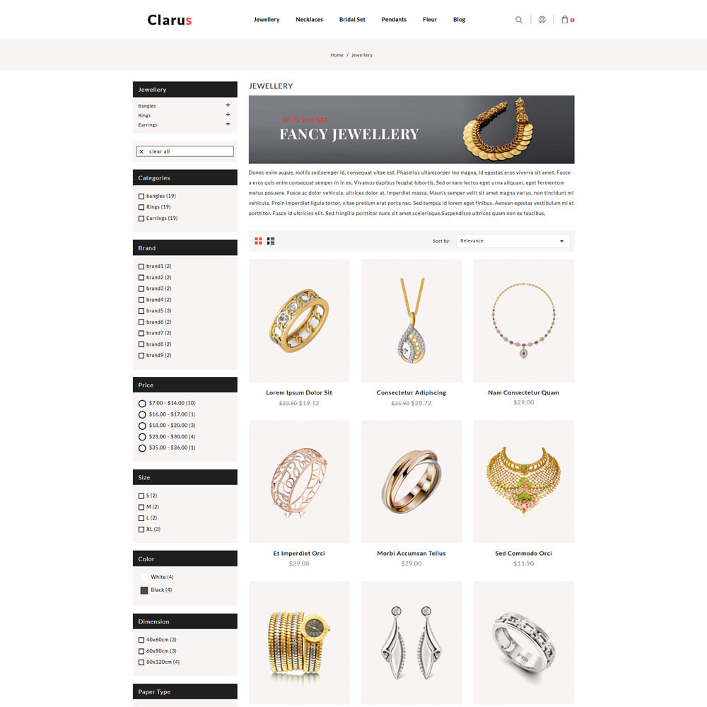 theme - Jewelry & Accessories - Clarus Jewelry & Accessories Shop - 3
