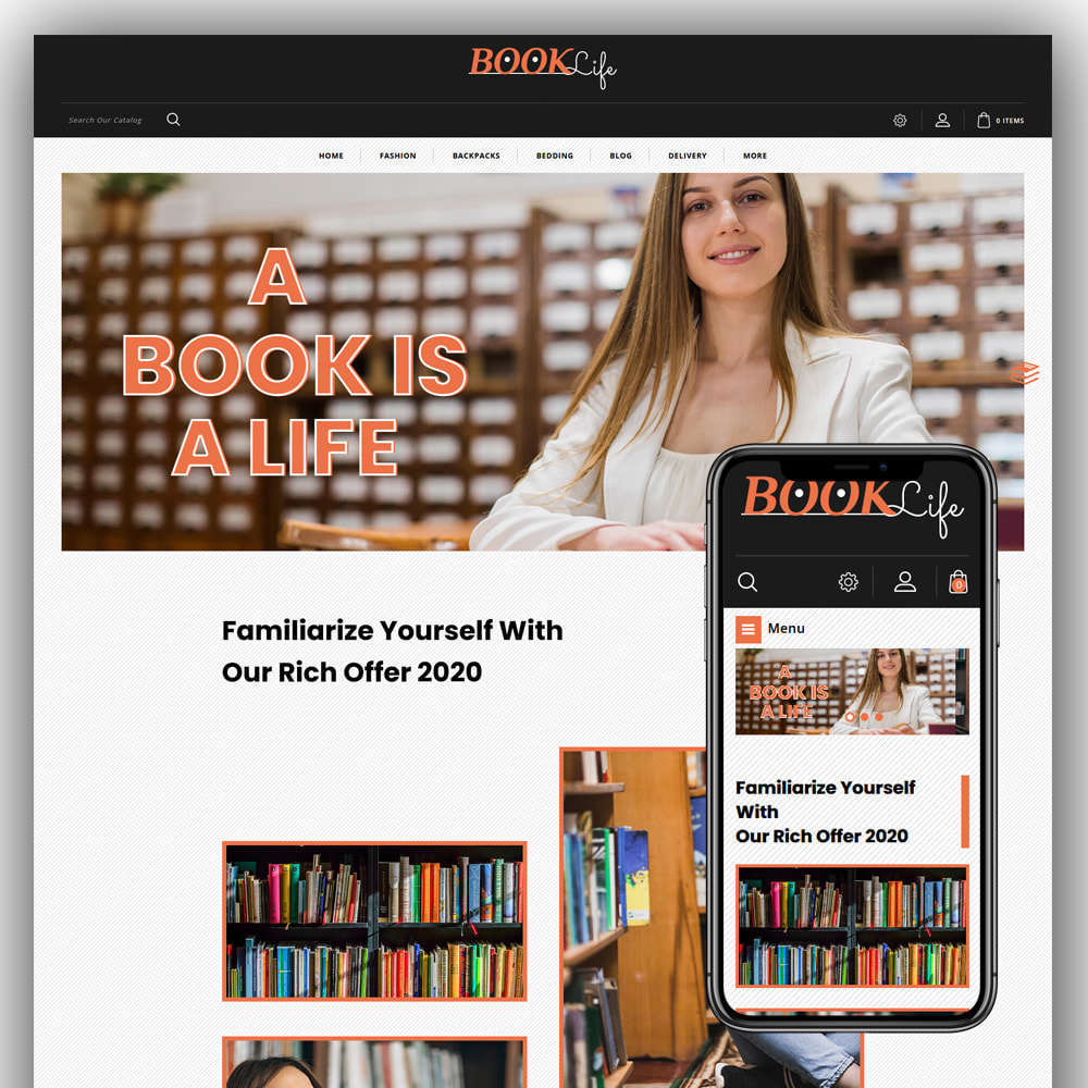 theme - Sports, Activities & Travel - Booklife - Book Store - 1