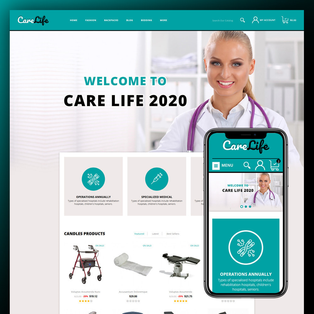 theme - Salud y Belleza - Carelife - Medical Store - 1