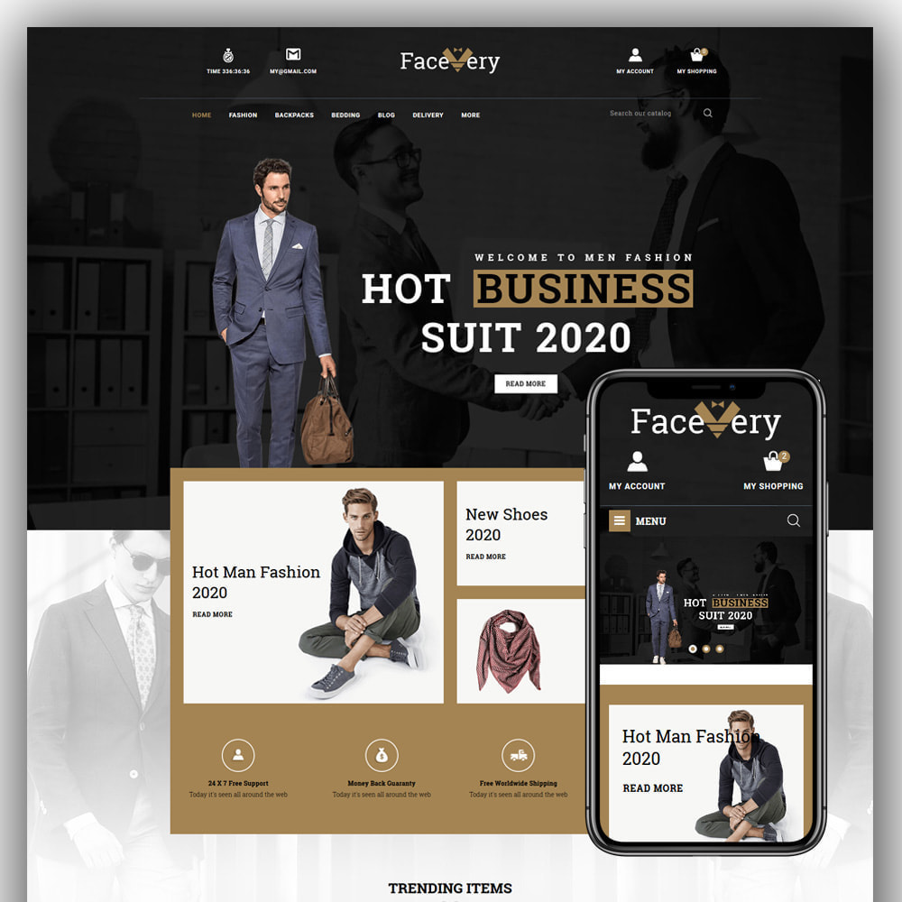 theme - Mode & Schuhe - Facevery - Men's Store - 1