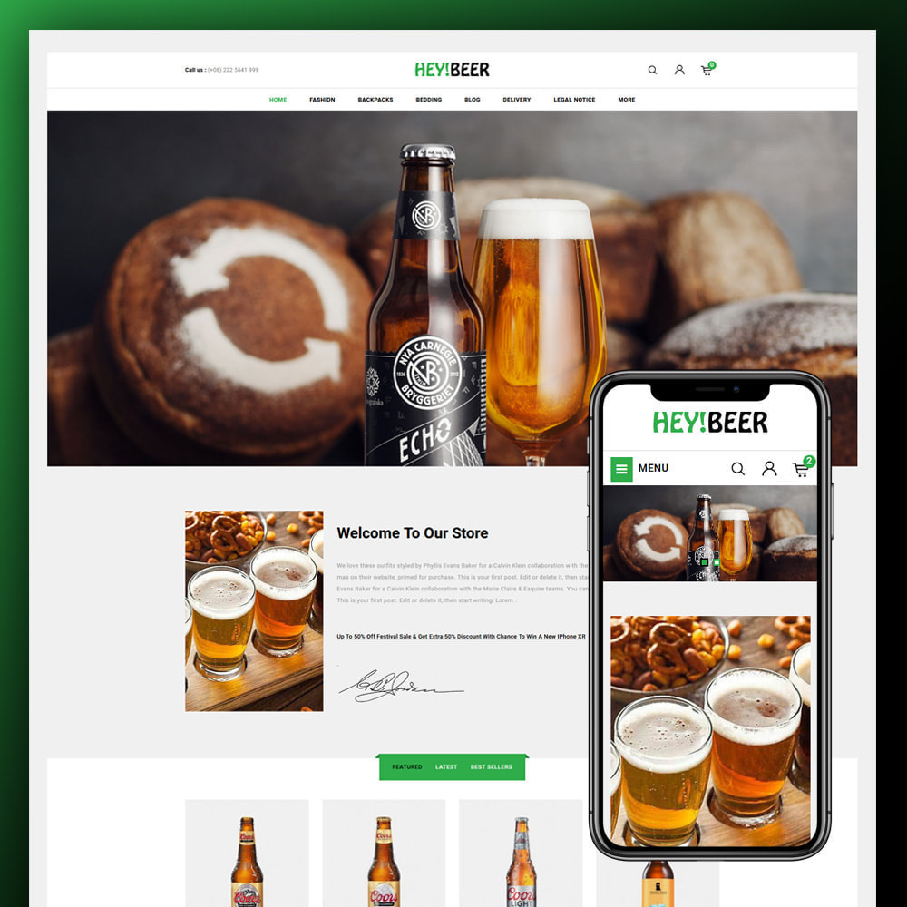 theme - Drink & Tobacco - Heybeer - Beer Store - 1