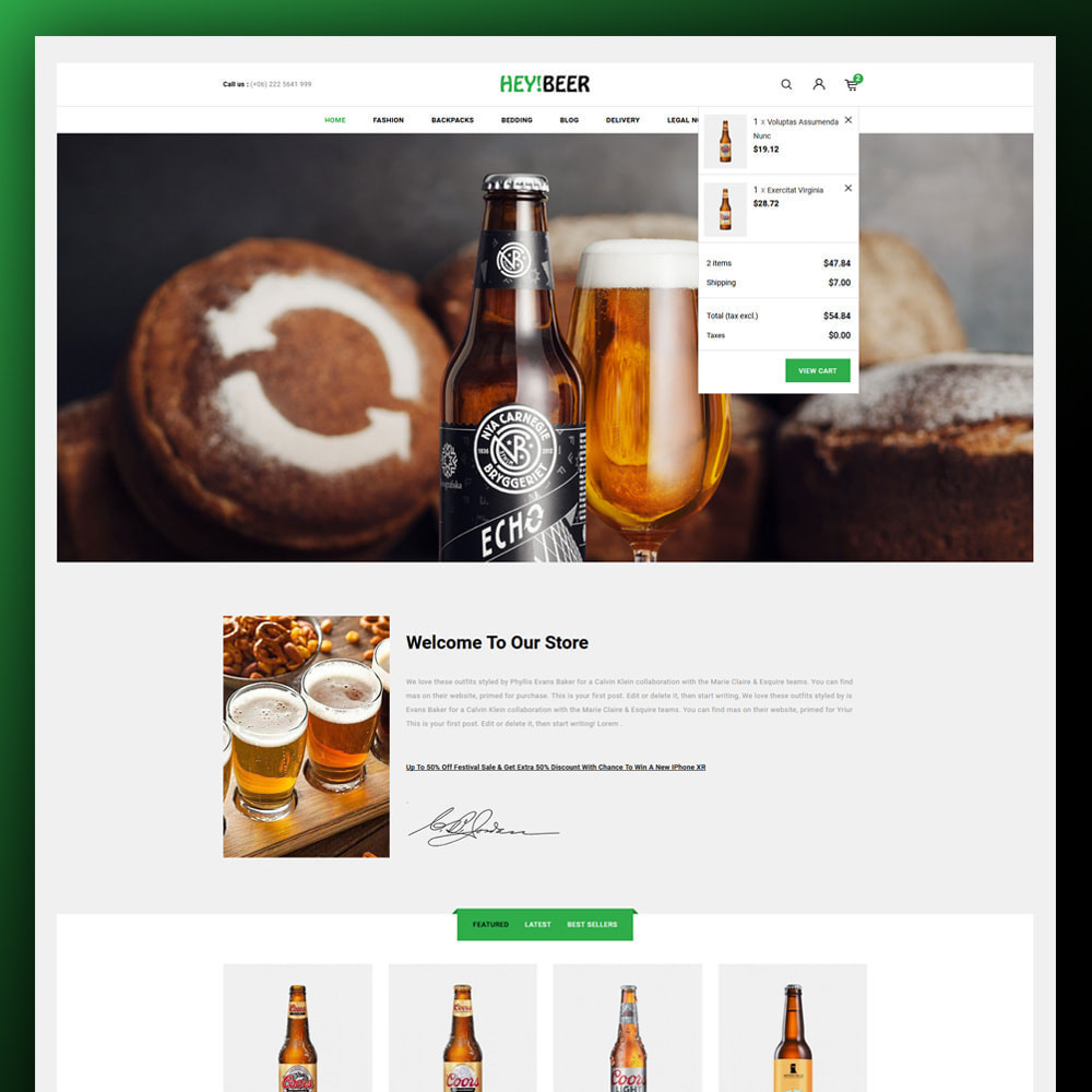 theme - Drink & Tobacco - Heybeer - Beer Store - 3