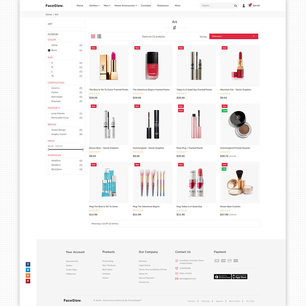 theme - Salute & Bellezza - FaceGlow - Beauty Cosmetics Store - 6
