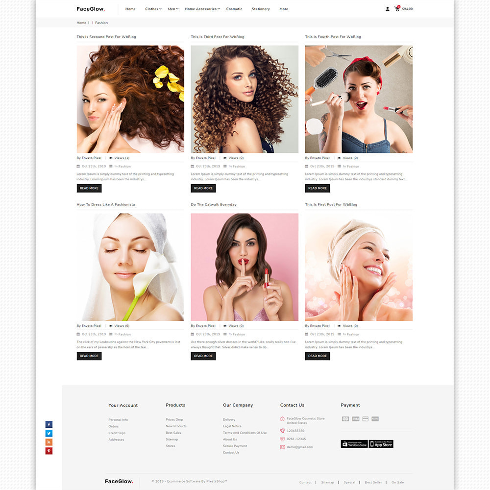 theme - Salute & Bellezza - FaceGlow - Beauty Cosmetics Store - 9