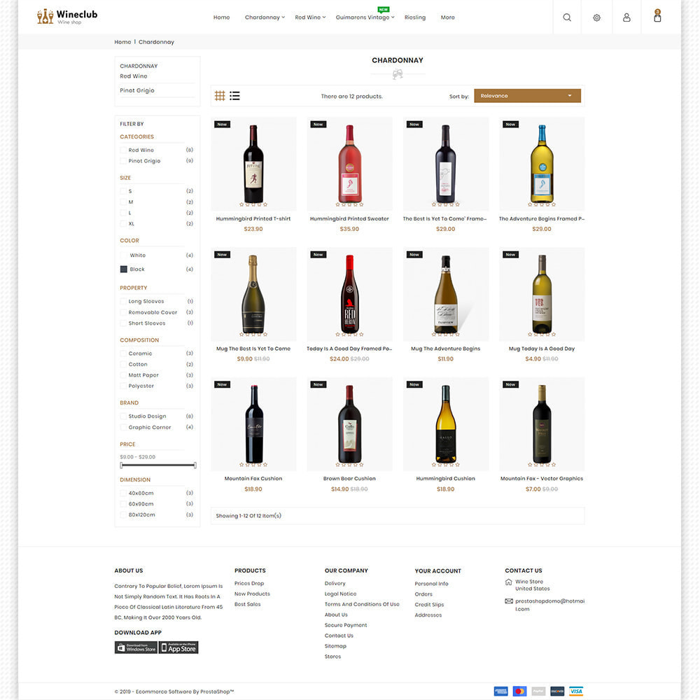 theme - Bebidas & Tabaco - WineClub - Wine - Drinks & Bar - 6