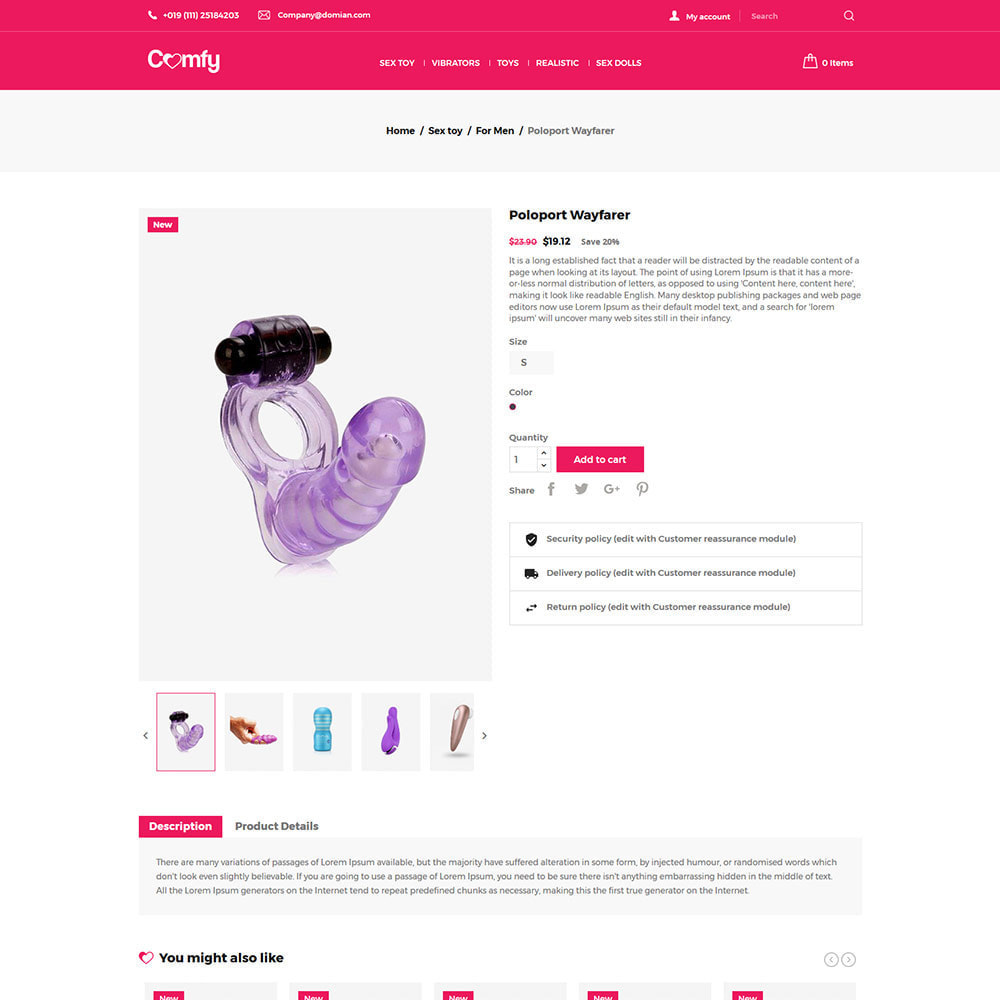 theme - Lingerie & Adult - Comfort Adult - Sex Toys Pleasure Store - 5