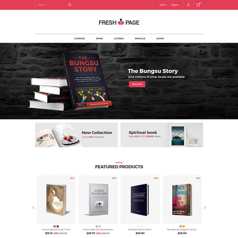 theme - Art & Culture - Fresh Page Book - Ebook Library Store - 2