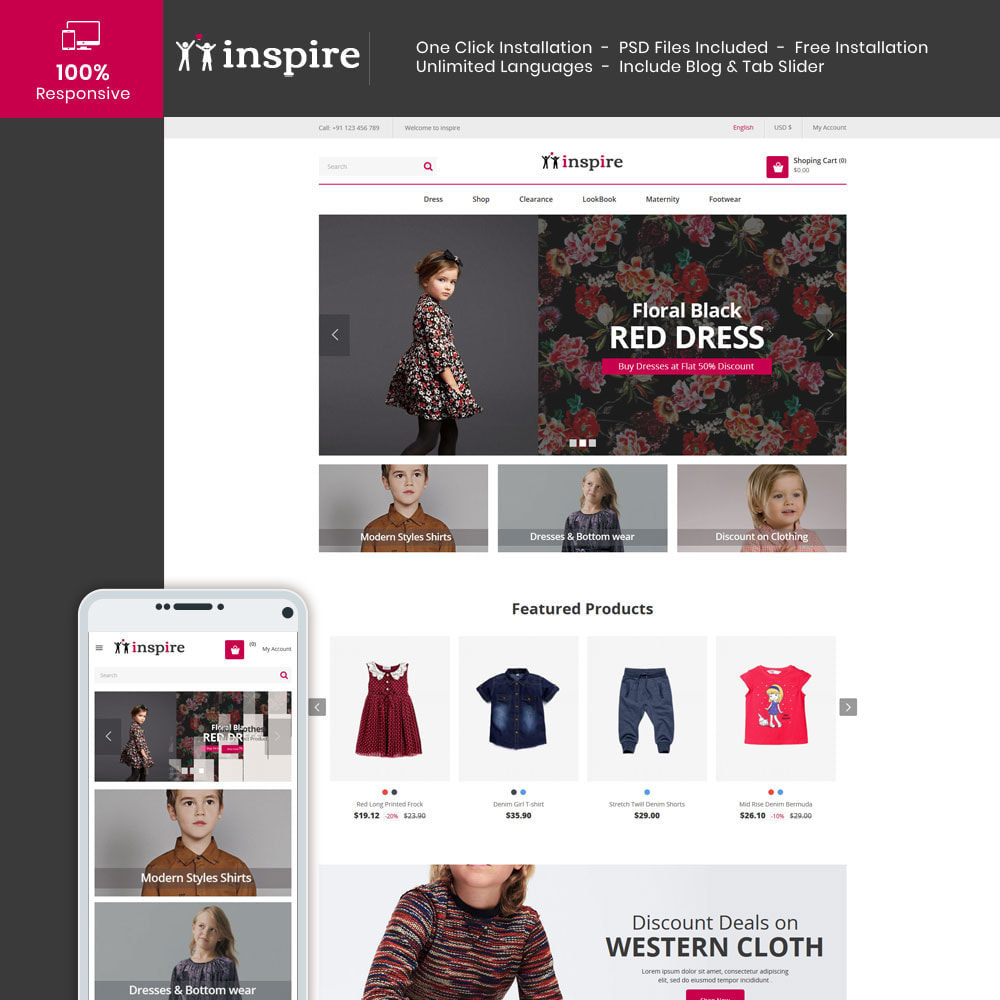 theme - Fashion & Shoes - Inspire Fashion Cloth Designer Store - 1