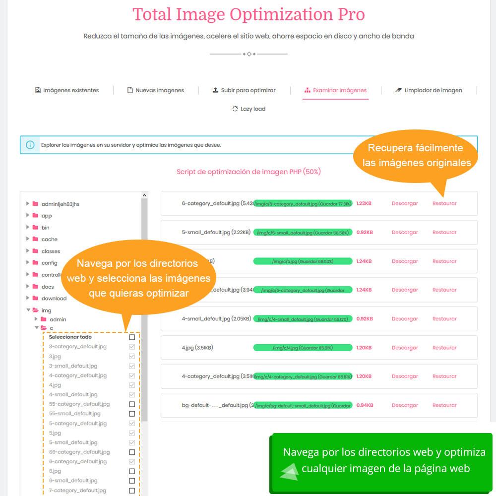 module - Rendimiento del sitio web - Total Image Optimization Pro - Compresión sin pérdida - 8