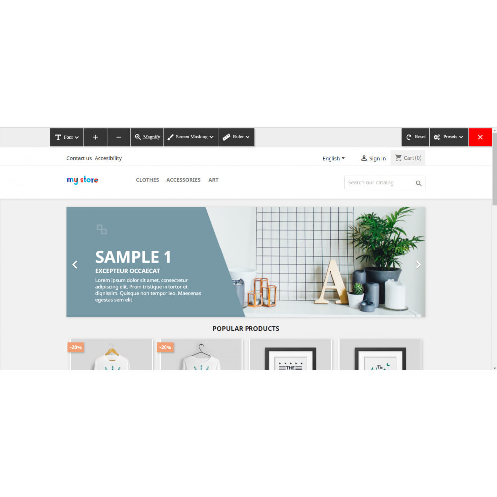 module - Products on Homepage - Accessibility - 1