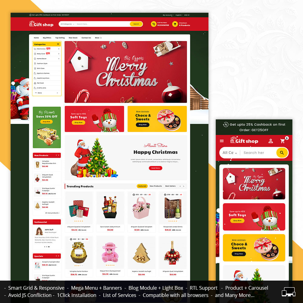 theme - Gifts, Flowers & Celebrations - Gift & Articles Shop - 1