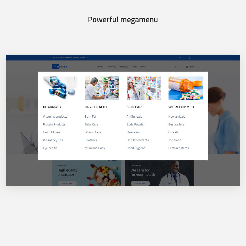 theme - Health & Beauty - Medicine -  Pharmacy Online & Healthcare Specialists - 7