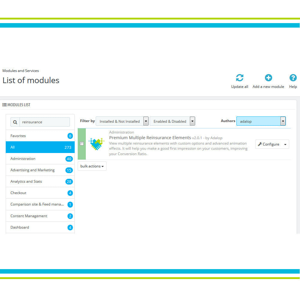 module - Personalizzazione pagine - Aggiungi elementi di fiducia multipli animati - Lottie - 3