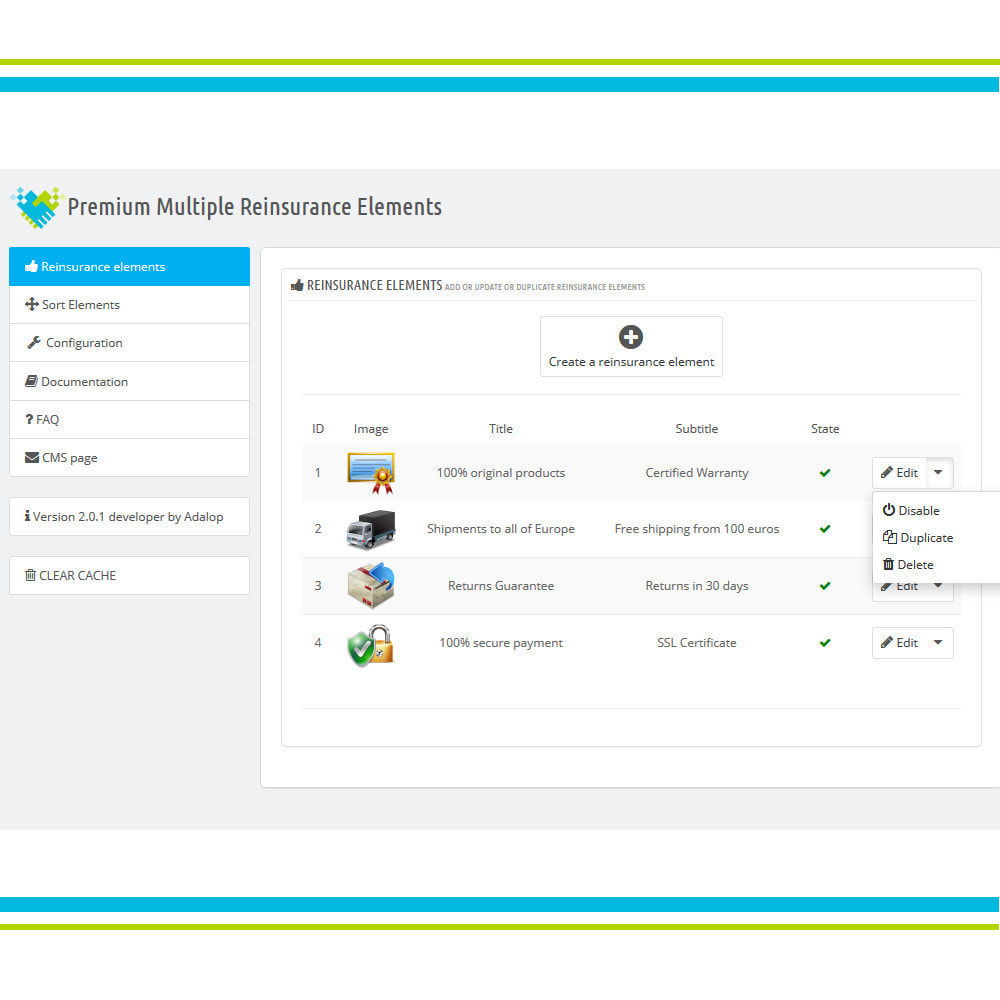 module - Personalizzazione pagine - Aggiungi elementi di fiducia multipli animati - Lottie - 4