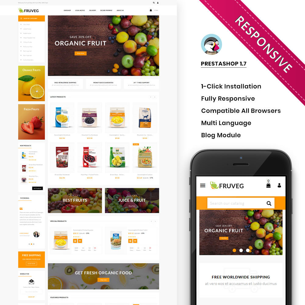 theme - Food & Restaurant - Fruveg - The Grocery Store - 1