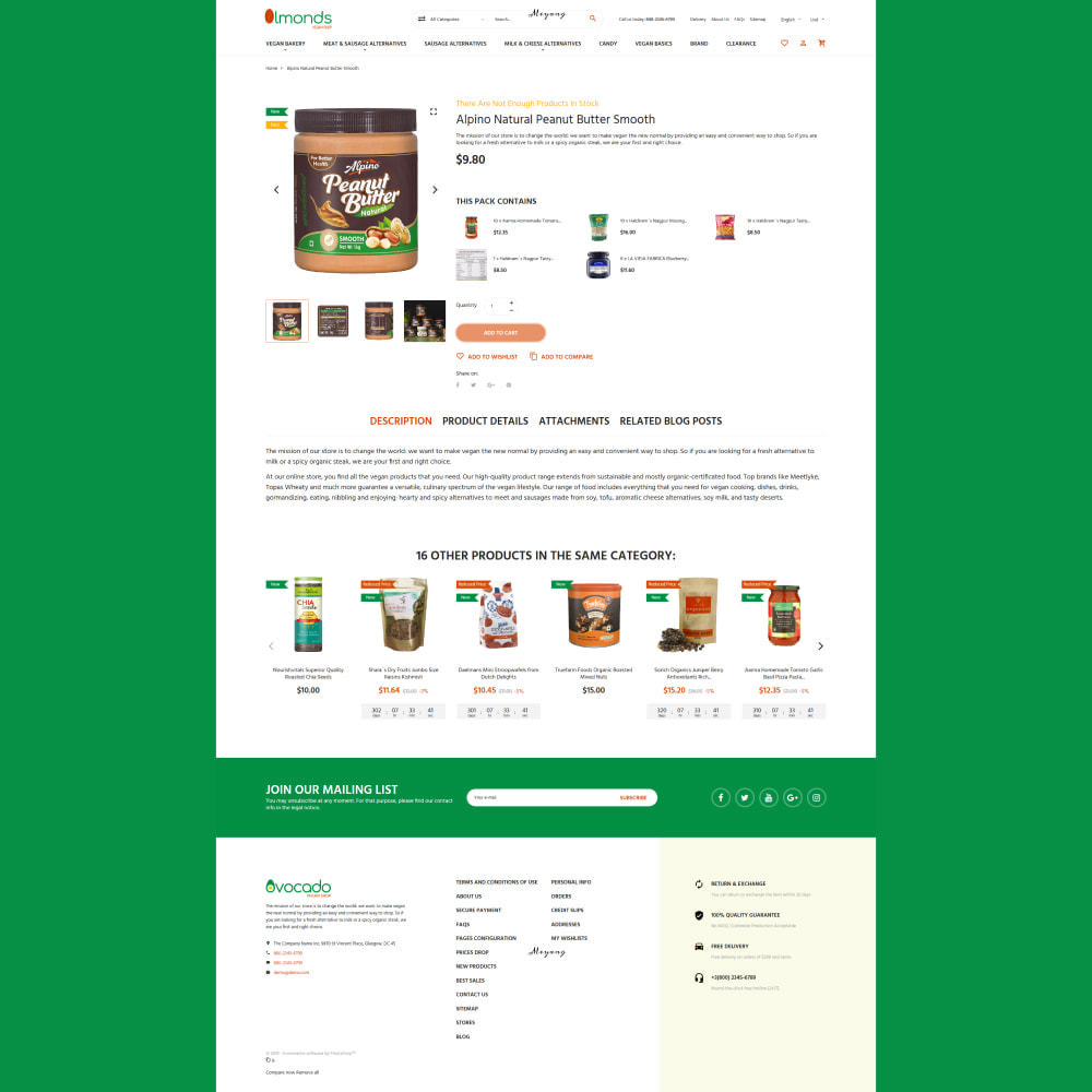 theme - Lebensmittel & Restaurants - Almonds - Vegan Shop - 5