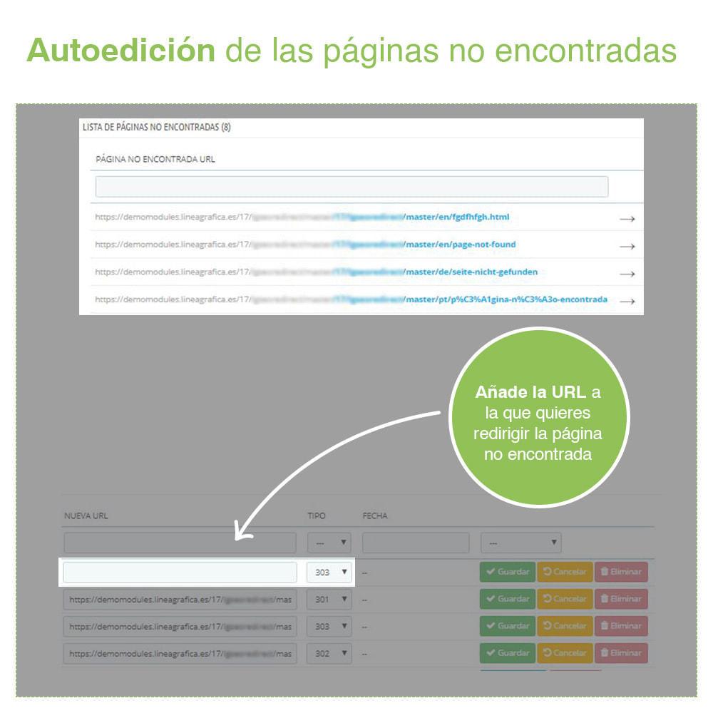 module - URL y Redirecciones - Redirecciones 301, 302, 303 de URLs y 404 - SEO - 7