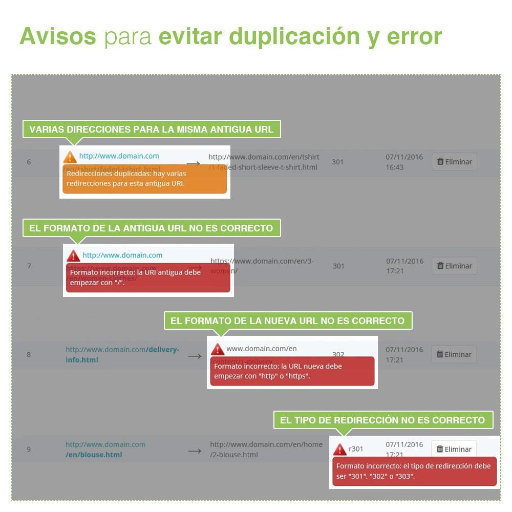 module - URL y Redirecciones - Redirecciones 301, 302, 303 de URLs y 404 - SEO - 9
