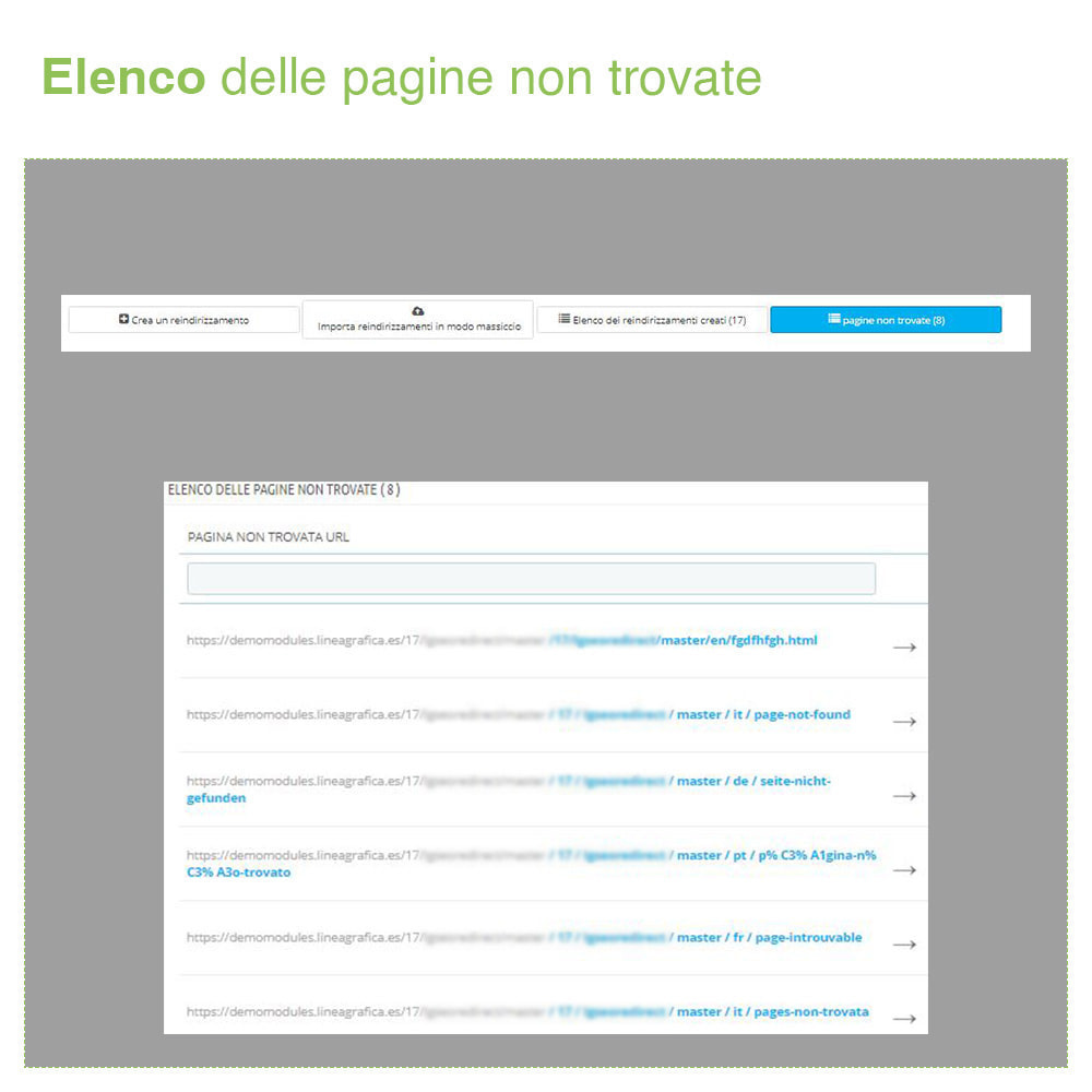 module - URL & Redirect - Reindirizzamenti, Redirect 301, 302, 303, 404 URL - SEO - 6