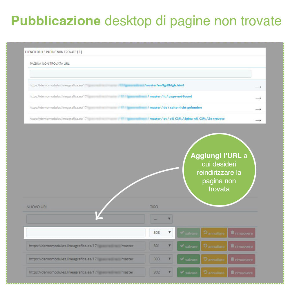 module - URL & Redirect - Reindirizzamenti, Redirect 301, 302, 303, 404 URL - SEO - 7