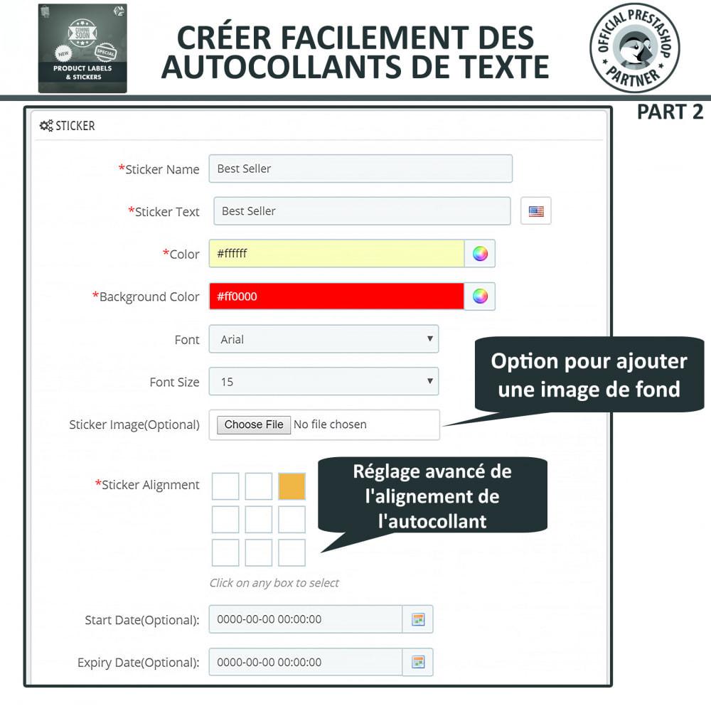 module - Etiquettes & Logos - Étiquettes de Produits et Autocollants - 9