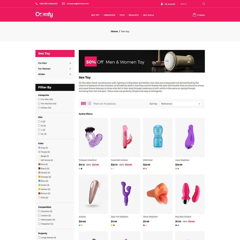 theme - Нижнее белье и товары для взрослых - Comfort Adult - Sex Toys Удовольствие Магазин - 4