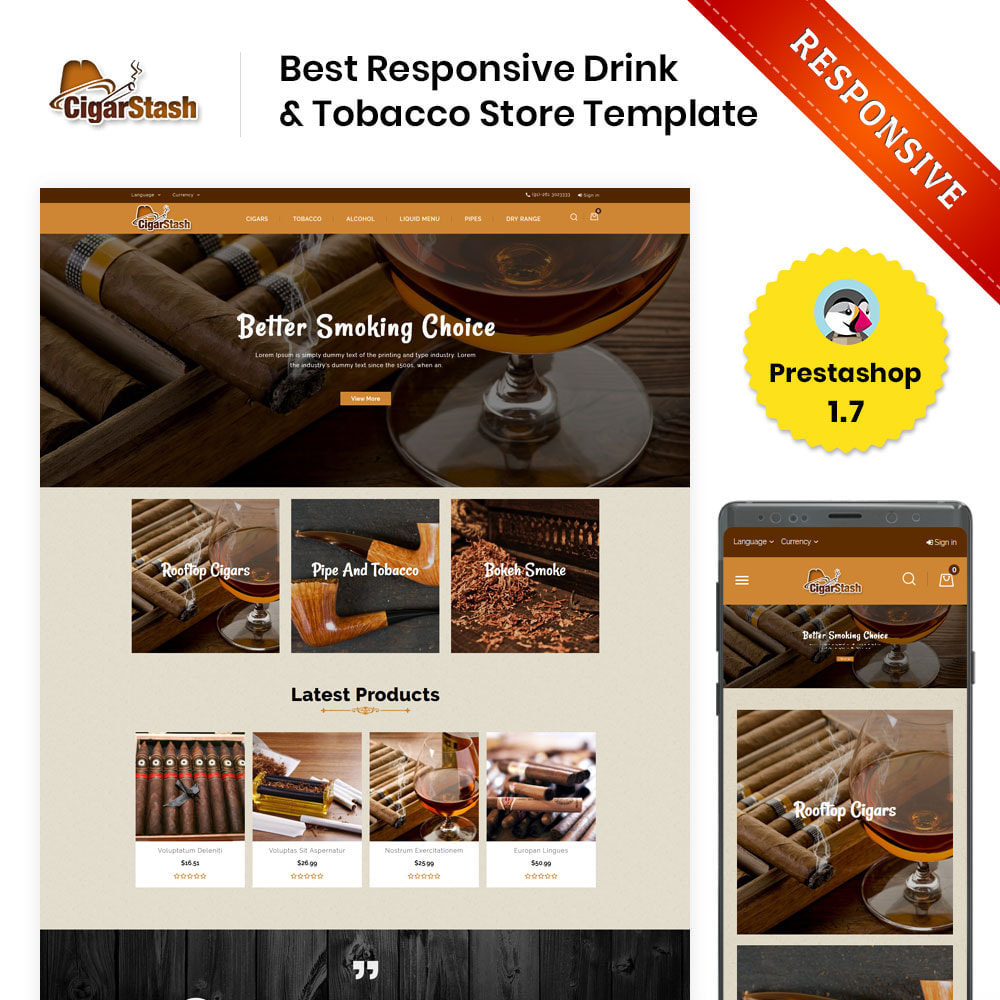 theme - Drink & Tobacco - CigarStash Store - 1