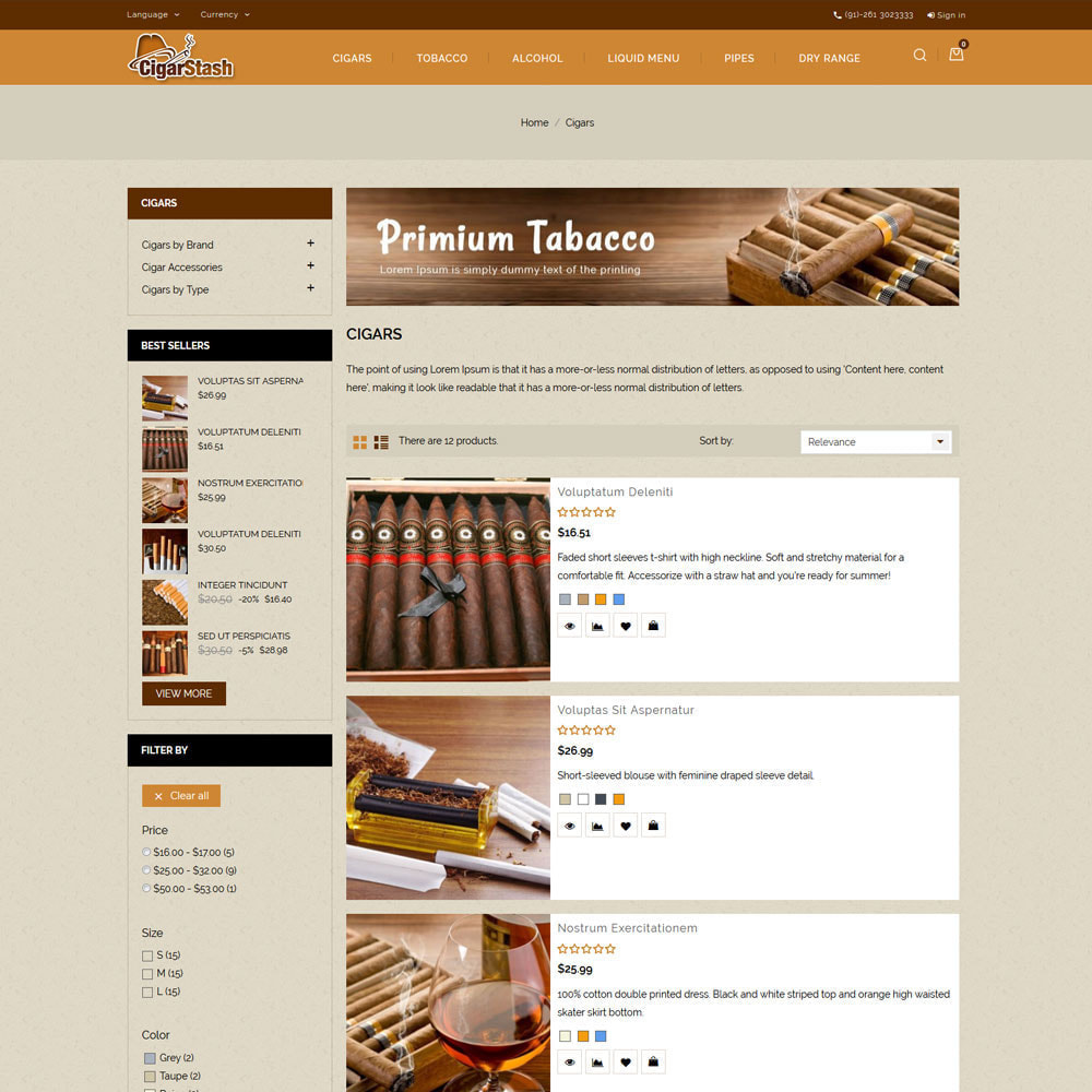 theme - Drink & Tobacco - CigarStash Store - 5