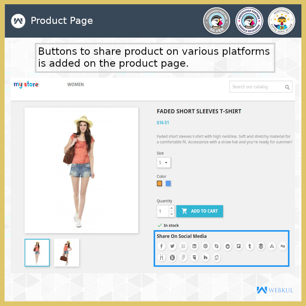 module - Boutons de Partage & Commentaires - Product and Order Social Share - 1