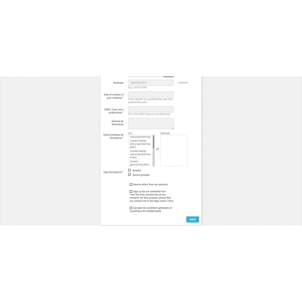 module - Registratie en Proces van bestellingen - Custom Registration - 3