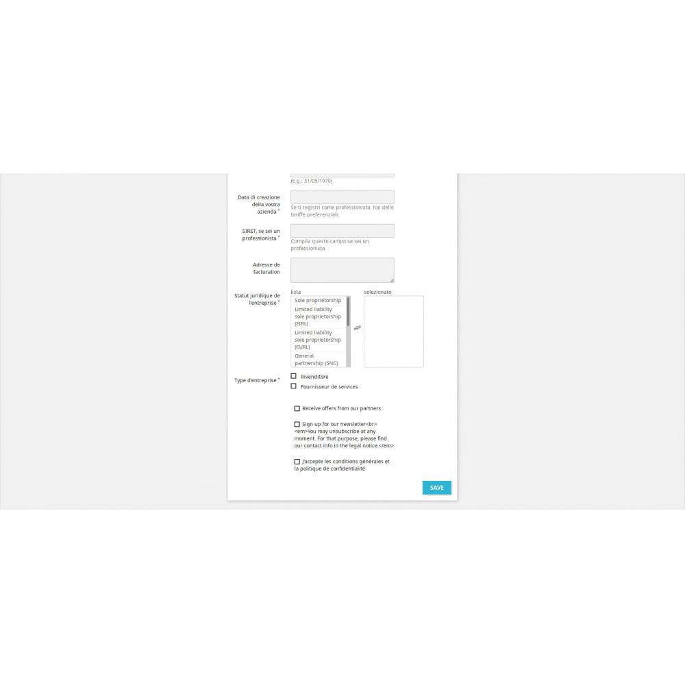 module - Iscrizione e Processo di ordinazione - Campi di Registrazione Personalizzati - 4