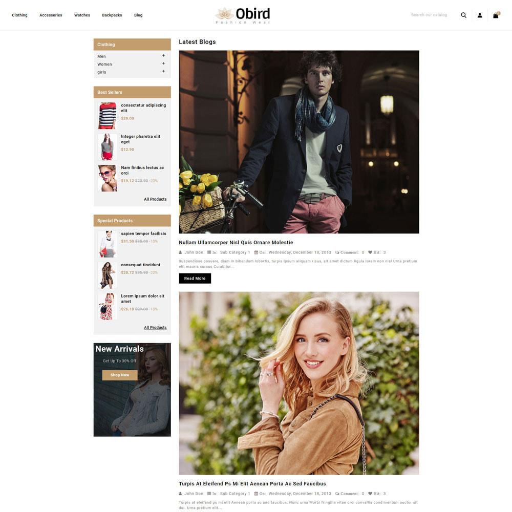 theme - Fashion & Shoes - oBird - Fashion Store - 6
