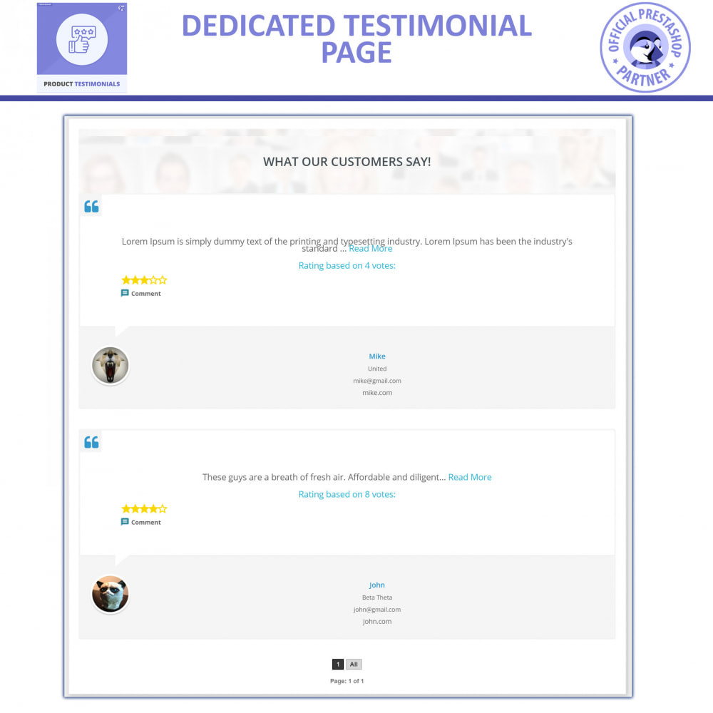 module - Klantbeoordelingen - Customer Product Reviews + Store Testimonials - 4