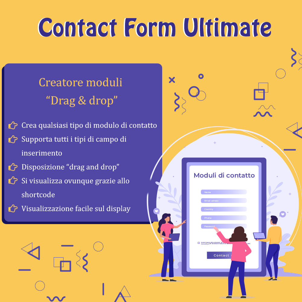 "module - Form di contatto & Questionari - Contact Form Ultimate – Creatore moduli ""Drag & drop"" - 1"