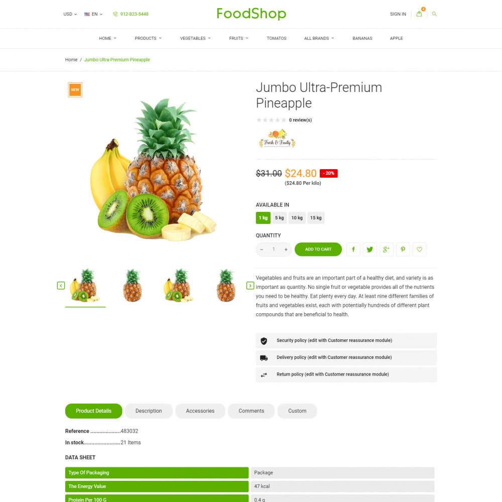 theme - Lebensmittel & Restaurants - Organic Garden - Food Store - 6