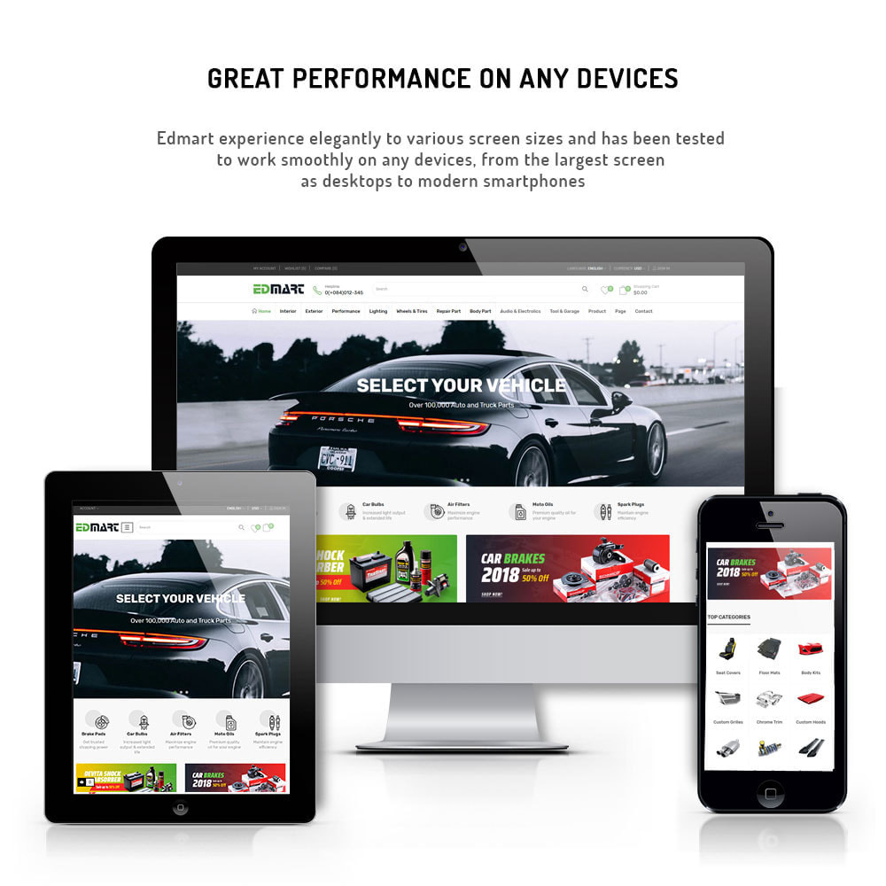 theme - Coches y Motos - Edmart - Auto Parts &  Cars Store - 5