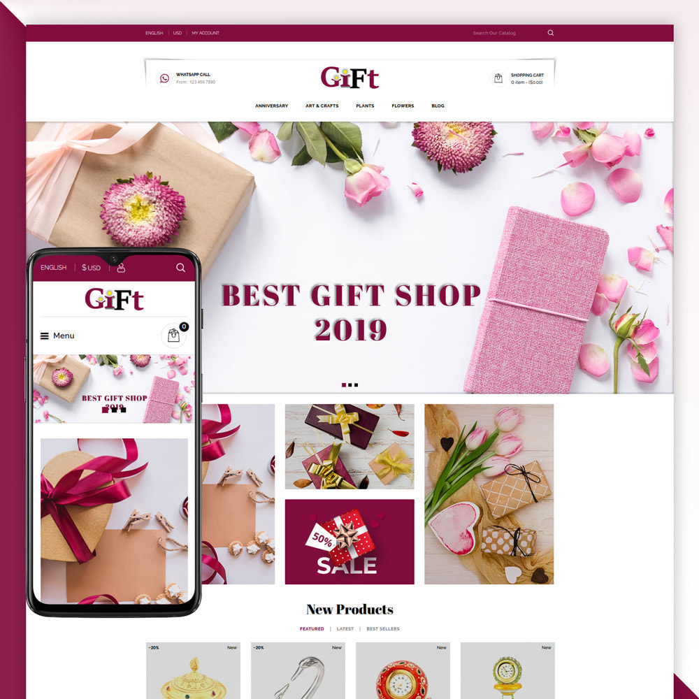 theme - Gifts, Flowers & Celebrations - Gift - Store - 1