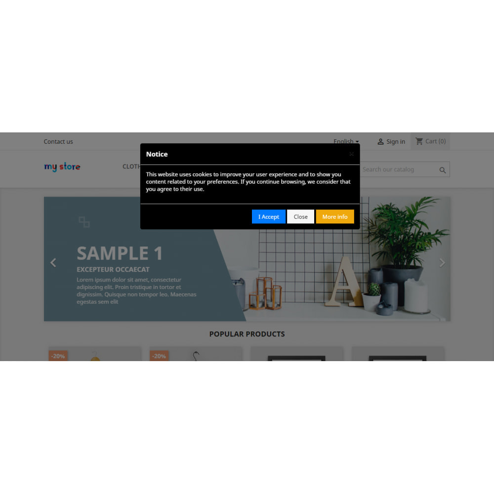 module - Juridisch - EU Cookies Law GDPR Compliant (Banner + Cookie Blocker) - 5