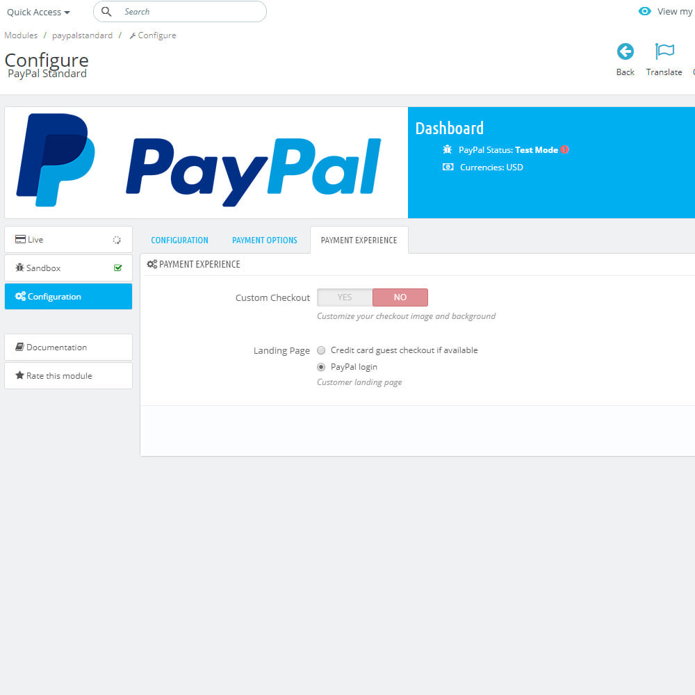 module - Payment by Card or Wallet - PayPal Standard - 6