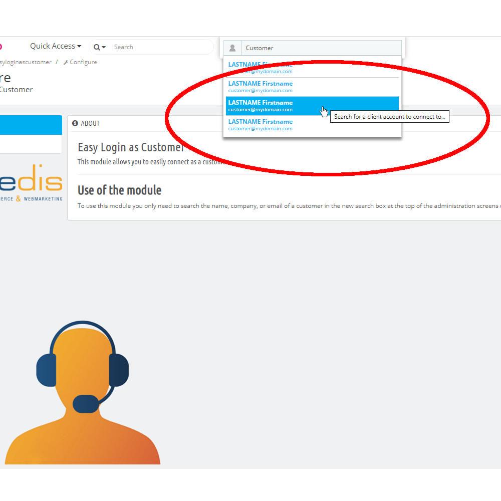 module - Registration & Ordering Process - Easy login as Customer - 2