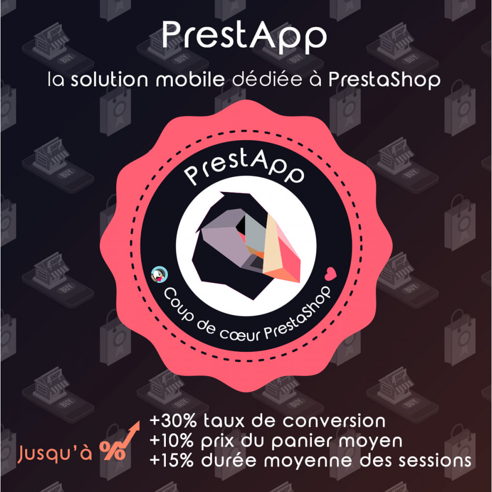 module - Mobile - PrestApp - Thème Site Mobile & Notifications Push - 1
