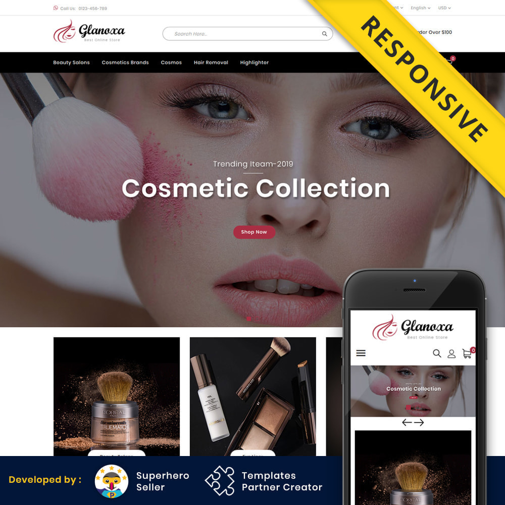 theme - Health & Beauty - Glanoxa - Cosmetic Store - 1