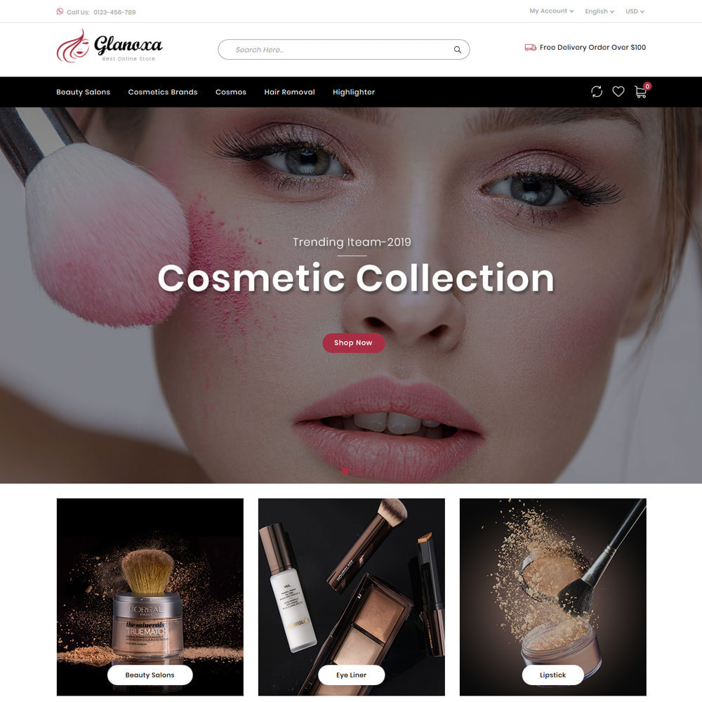 theme - Health & Beauty - Glanoxa - Cosmetic Store - 2