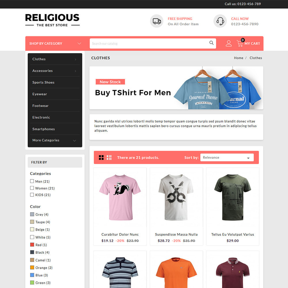 theme - Mode & Chaussures - Religious - T-Shirts Store - 3