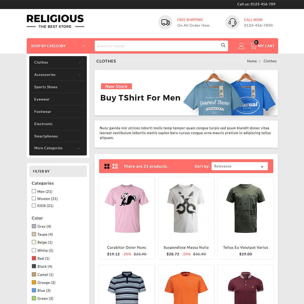 theme - Fashion & Shoes - Religious - T-Shirts Store - 3